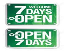 7 Day Open