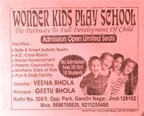 Wonder kids play school