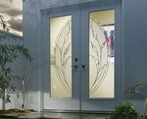 Aluminium Door with Designer Glass