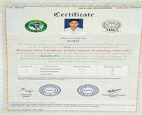 Certificate of HS-CIT
