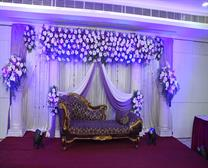 WEDDING STAGE WITH FLOWER
