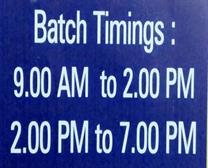 BATCH TIME IN HANSI
