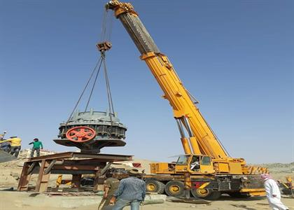 Mobile Crane at Work in Kaithal
