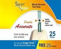 Sugar Scan Glucometer Test Strips