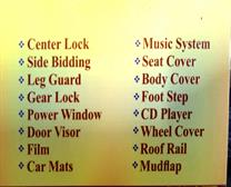 ALL TYPE CAR ACCESSARIES IN ROTHAK