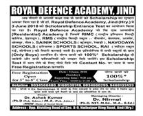 100 % SCHOLARSHIP IN JIND