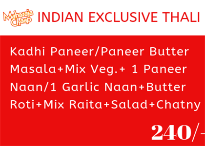 Indian Exclusive Thali