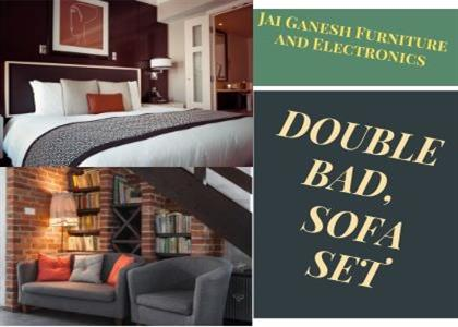 Double Bed and Sofa In Jind