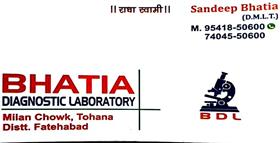 BHATIA DIAGNOSTIC LABORATORY