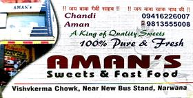 AMANS SWEETS AND FAST FOOD