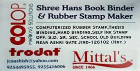 SHREE HANS BOOK BINDER AND RUBBER STAMP MAKER