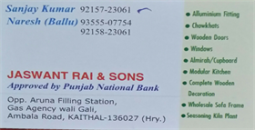 Jaswant Rai And Sons