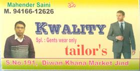 KWALITY TAILOR'S JIND