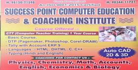 SUCCESS POINT COMPUTER EDUCATION AND COACHING INSTITUTE