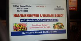 MAA VAISHNO FRUIT VEGETABLE AGENCY